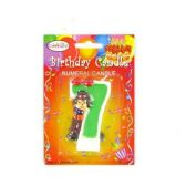 144 Units of B-DAY CAKE CANDLE CLOWN #7