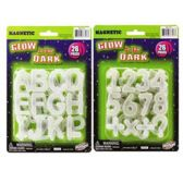 144 Units of GLOW IN DARK LETTERS AND NUMBERS ASSORTED ON BLISTER CARD - School Supply Kits