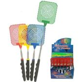 144 Units of EXTENDABLE FLY SWATTER EXPANDS UP TO 29INCHES - Fly Swatters
