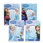 72 Units of DISNEY FROZENWORD SEARCH PUZZLE BOOKS 4 ASSORTED 96 PAGE BOOKS - Puzzle Books