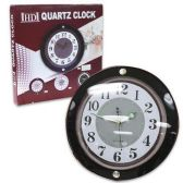 24 Units of HD QUARTZ CLOCK WITH LARGE NUMBERS COMES IN BLACK, WHITE & BROWN - 13 INCH