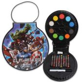 24 Units of MARVEL AVENGERS 21 PIECE ART SET COMES IN EASY CARRY CASE