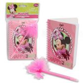 24 Units of DISNEY MINNIE MOUSE NOTEBOOK WITH MARABOU PEN
