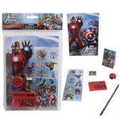 24 Units of MARVEL AVENGERS 7 PIECE SCHOOL SET COMES WITH ESSENTIAL SCHOOL SUPPLIES - School Supply Kits