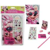 24 Units of DISNEY MINNIE MOUSE 7 PIECE SCHOOL SET COMES WITH ESSENTIAL SCHOOL SUPPLIES