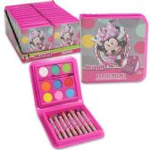 96 Units of DISNEY MINNIE MOUSE 18 PIECE ART SET WATERCOLOR PAINT, PAINT BRUSH, CRAYONS