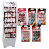 288 Units of NAILS 12 PACK SELF AFHESIVE ASSORTED DISPLAY