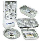144 Units of PREMIER FOIL BAKEWARE WITH DISPLAY 5 ASSORTED BAKING PANS