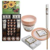 152 Units of CANDLE MIX DISPLAY WITH LEMON SCENT ASSORTED CANDLES - CANDLE SETS