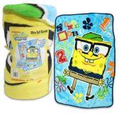 6 Units of SPONGE BOB BLANKET 30 X 43 INCHES - Comforters & Bed Sets