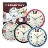 24 Units of QUARTZ CLOCK WITH LARGE NUMBERS 13 INCH CLOCK