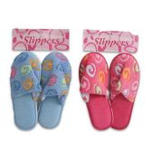 36 Units of SLIPPERS WITH SWIRLS IN PINK AND BLUE