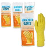 72 Units of YELLOW HOUSEHOLD CLEANING GLOVES COMES IN SIZES S, M, L & XL