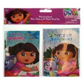 96 Units of DORA MINI DIARY AND NOTE PAD SET WITH FOIL PRINTING ON COVERS IN POLY BAG - School Supply Kits
