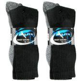 60 Units of 2 PACK BOOT SOCKS BLACK 10-13 - Womens Thermal/Sweater/Boot
