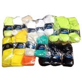 60 Units of 4 PACK COLOR SOCKS 10-13 ASSORTED COLORS