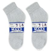 120 Units of 2 PAIR GREY SOCKS SIZE 11-13 ANKLE SOCKS