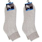 120 Units of DIABETIC ANKLE SOCKS GRAY 9-11