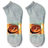 240 Units of 2 PAIR SOCKS LOWCUT 9-11 GRAY SCAPE SPORTS