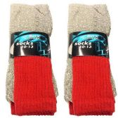 120 Units of 3 PAIR THERMAL SOCKS 10-13 RED SOX EXPRESS