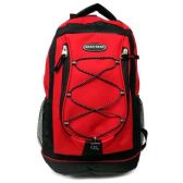 48 Units of 18 INCH BRIGHT RED BACKPACK 2 POCKET 2 T LG COMPARTMENTS SIDE POCKETS + STRAP