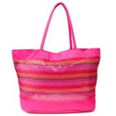 120 Units of CLEAR STRIPE HAND BAG 23X20X14 INCH BEACH OR TRAVEL BAG WITH HANDLE