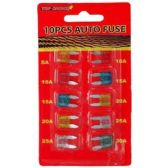 72 Units of 10PC AUTO FUSE - Auto Gauges/Fuses/Testers