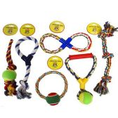 24 Units of DOG TOYS 6 ASSORTED - Pet Toys
