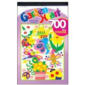 36 Units of 700 PC GARDEN HEART STICKERS VARIOUS SIZE & DESIGNS INCLUDED