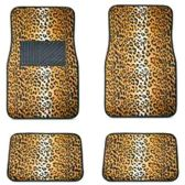 10 Units of 4PC CAR FLOOR MATS TAN LEOPARD PRINT 8 FRONT MATS 27X17 + 2 BACK MATS 17X13