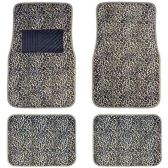 10 Units of 4PC CAR FLOOR MATS TAN CHEETAH PRINT 12 FRONT MATS 27X17 + 2 BACK MATS 17X1