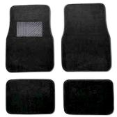 10 Units of 4PC BLACK CARPET CAR FLOOR MATS SET 22 FRONT MATS 27X17 + 2 BACK MATS 17X1