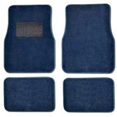 10 Units of 4PC BLUE CARPET CAR FLOOR MATS SET 23 FRONT MATS 27X17 + 2 BACK MATS 17X1