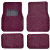 10 Units of 4PC BURGANDY CARPET CAR FLOOR MATS SET 24 FRONT MATS 27X17 + 2 BACK MATS 17X1