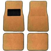 10 Units of 4PC BEIGE CARPET CAR FLOOR MATS SET 26 FRONT MATS 27X17 + 2 BACK MATS 17X1
