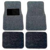 10 Units of 4PC MEDIUM GRAY CARPET FLOOR MATS SET 31 FRONT MATS 27X17 + 2 BACK MATS 17X1