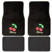 10 Units of 4PC BLACK CHERRY CARPET FLOOR MATS 2 FRONT MATS 27X17 INCH 2 BACK MATS 17X1