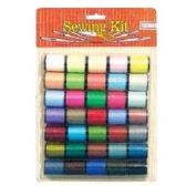 96 Units of 35 PC SEWING THREAD MODERN COLORS GREAT ASSORTMENT OF COLORS