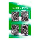 144 Units of 65 PCS STEEL SAFETY PIN 4 SIZE SAFTY PINS CLIPS - SAFETY PINS