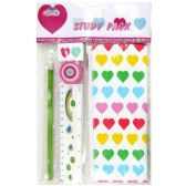 96 Units of 5PC STATIONARY SET ASSORTED DESIGNS - Classroom Learning Aids