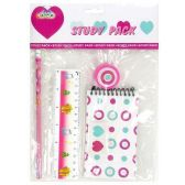 96 Units of 5PC STATIONARY SET ASSORTED COLORS - Classroom Learning Aids