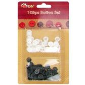 144 Units of 100 PC BUTTON SET BUTTON SET - SEWING BUTTONS