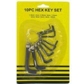 96 Units of 10 PC HEX KEY SET - HEX KEYS/TOOLS