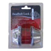 24 Units of SINGLE DEADBOLT DOOR ENTRY LOCK ANTIQUE BRASS