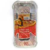 72 Units of 2 PK ALUMINUM DEEP LOAF PAN LID