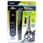 60 Units of 4PC HAIR BEARD TRIMMER KIT TV ITEM LIGHT & SAFE NEEDS 2 AA BATTERY - Hair Cutter/ Trimmer