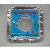 144 Units of 6 PC 9 INCH SQUARE BURNER BIBS ALUMINUM