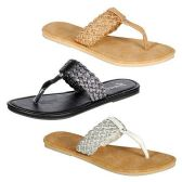 36 Units of WOMENS THONG SANDALS SIZE 6-11 BLCK, BEIGE, WHITE