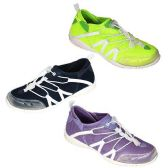 24 Units of WOMENS WATER SHOES SIZE 5-10 GREEN, BLCK, PRPLE