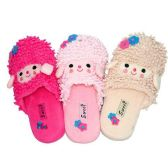 36 Units of WOMENS SHEEP SLIPPERS SIZE 5-10 LGHT PNK, HT PNK, BEIGE